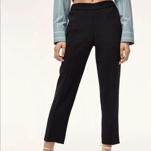 Aritzia Wilfred Dorantal Black Cropped Pants